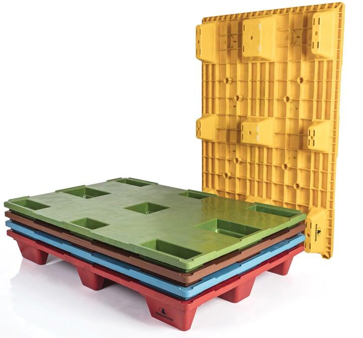 Palette emboîtable REP 1200x800 pleine 9 pieds - Personnalisation couleur | Ribawood