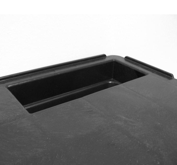 Palette emboîtable REP 1200x800 pleine 9 pieds - Rebords | Ribawood