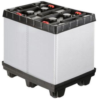 BOX TP CONTENEDOR PLÁSTICO PLEGABLE 800x600 6 pies Ribawood