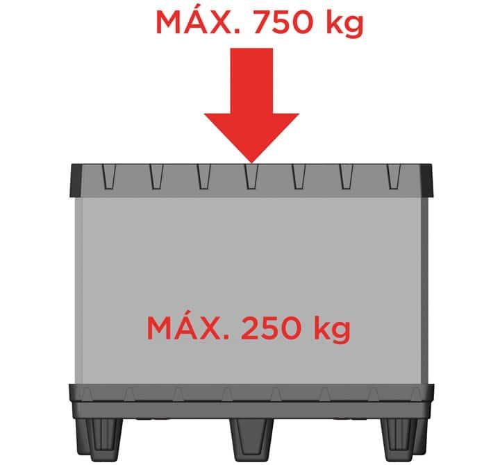BOX TP CONTENEUR 800x600 6 pieds charge maximale