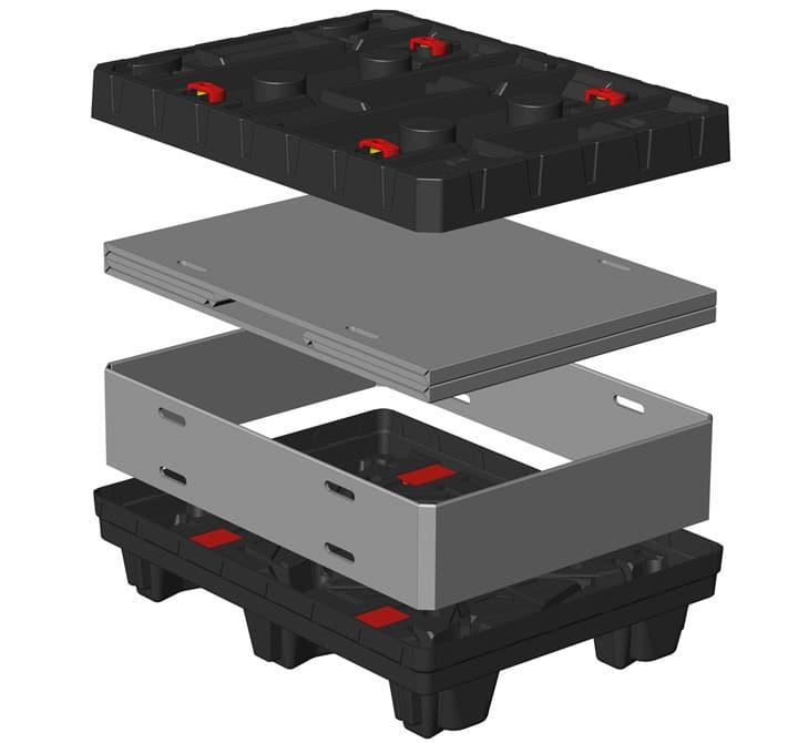 Box TP Conteneur plastique 800x600 mm sistème de rangement Sandwich   Ribawood
