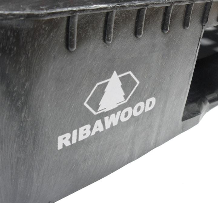 Palette RGP 1200x800 semi-ajourée 5SEMELLES anthracite PERSONNALISATION Ribawood