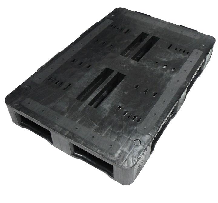 Palette RGP 1200x800 semi-ajourée 5SEMELLES anthracite PLATEAU Ribawood