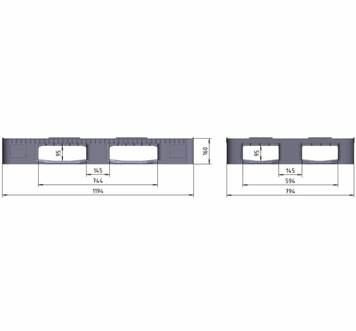 RGP 1200x800 5 SEMELLES SEMI-AJOURÉE schéma