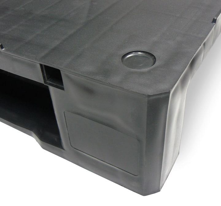 Palette RGP 800x600 PLEINE 2 SEMELLES anthracite zone marquage Ribawood