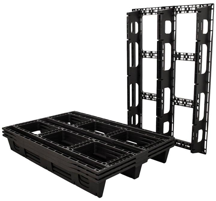 Palé RUP 1200x800 3P PERFORADO negro l palet para exportación l cargas ligeras l Ribawood