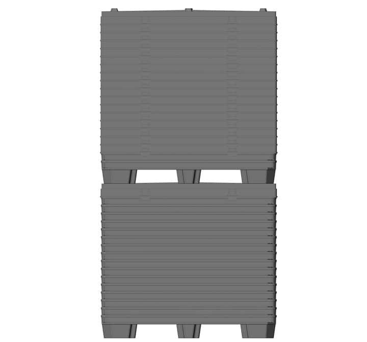 BOX TP CONTENEUR 1200x800 ou 1200x1000 9 pieds o 3 semelles livraion standard