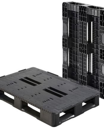 Palet RGP 1200x800 5PATINES semi liso LISO heavy duty Ribawood
