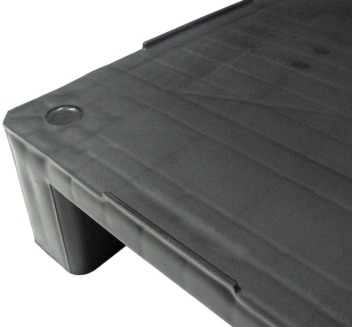 Palette RGP 800x600 PLEINE 2 SEMELLES anthracite rebords de sécurité Ribawood